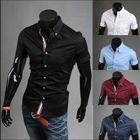 Wholesale Mens Slim fit stylish Dress short Sleeve Shirts Mens dress shirts