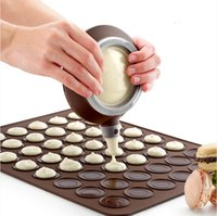 Wholesale Practical cavity Silicone Pastry Cake Macaron shape mould Oven Baking pastry Mould Sheet Mat