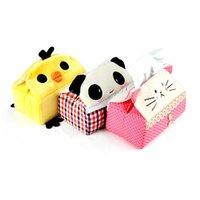 Wholesale New Cute Cartoon Animal Cloth Tissue Box Napkin Cover Handkerchief Case Paper Holder