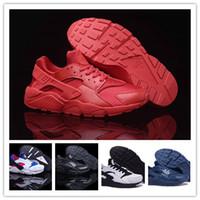 nike huarache - Low Nike Air Huarache Red October running shoes Triple Men Women Huaraches sneakers original quality Training shoes size