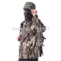 camouflage jacket - new preservation Outdoor fleece Camouflage jacket coat for spring autumn winter bionic camo hunting jacket