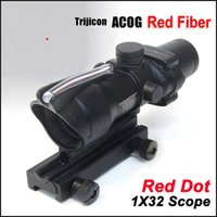 riflescopes red dot - ACOG x32 Fiber Source Red Dot Scope W Real Red Fiber Weaver Riflescopes Combat Gunsight