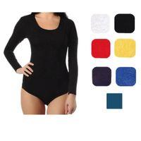 Black ballet costume thin section women s deep neck stretch bodysuit