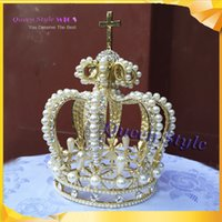 Wholesale GORGEOUS CLEAR AUSTRIAN RHINESTONE CRYSTAL and Pearl TIARA CROWN BRIDAL PAGEANT CR03CROWN