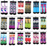 Wholesale Hot selling style d socks kids women men hip hop socks d odd socks cotton skateboard socks printed gun emoji pair E46L