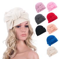 A288 Femmes Bow GATSBY Vintage hiver en laine Cap Beret Beanie Cloche Bucket Hat