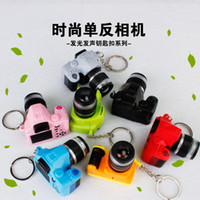 animation camera - camera pearl necklace sound light keychains flashlight sound ring cartoon toys animation Stitch keychains child gift pendant hot style