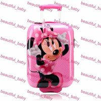 Wholesale Hot Sale Children Backpack Pull Rod Bags Travel Thermal Bag Kid Cartoon ABS Child School Bags with Wheels