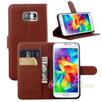 galaxy - For Galaxy S6 Leather Case Litchi Flip Leather Wallet w Card Slots For Samsung G9200 G920F G920 S6 Leather Cases