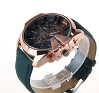 Wholesale Golden watch Leather belt men watches luxury fashion trend high quality men Watch geneva dz watch