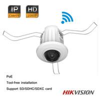 Hikvision 2MP 1080P Dual-streams PoE Wi-Fi Mini domo IP cámara de corte IR sin herramientas de instalación