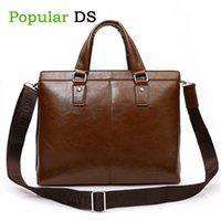 Wholesale HOT Big Discount Bag Men s Genuine leather Messenger Bag High quality Briefcase men s Business bag Shoulder bag E10