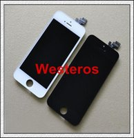 For Apple iPhone Favorite Categories  Good Black and white Glass Touch Screen Digitizer & LCD Assembly Replacement For iPhone 5 & Freeshipping