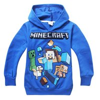 baby creepers - 2015 spring children Minecraft Creeper hoodies baby boys girls sweashirts long sleeve cotton clothes for child cartoon baby clothes
