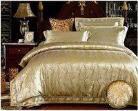 Wholesale Luxury satin jacquard bedding comforter set king queen size duvet cover bedspread bed in a bag sheet bedsheet quilt linen bedroom brand