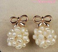 Wholesale wonderful pearl ball drops lady s earings mm nnsssp