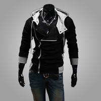 Wholesale New arrival Men s Hoodies Sweatshirt Slim Stylish Jacket Cosplay Costume Fashion Men Assassins Creed Jacket Korean