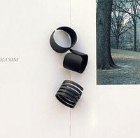 Cheap Good quality New Fashion Ring Set Black Stack Plain Above Knuckle Ring Band Midi Rings 3pcs set 300set