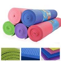 yoga mat - New Slip thick mm yoga matBeginners Fitness widening multicolor slip PVC yoga mat outdoor camping