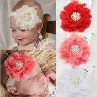 Wholesale 2015 European Fashion Childrens Pearl Flower Headbands Hot Sale Multi color Baby Girls Fashion Princess Fabric Headbands Infant Headbands