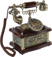 Wholesale 8505 three dimensional alloy sculpture telephone antique telephone vintage telephone wood telephone