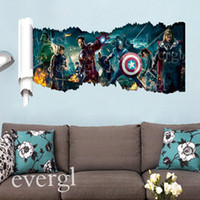 bedroom decor images - 2015 Large Wall Sticker Moive The Avengers Image Decals Decor Kids Boy Gift Home Art