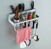 Wholesale 40cm Long Aluminum Kitchen Racks Kitchen Storage Shelf Single CUPs Dinnerware Shelf Holders Racks