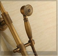 antique faucets designer - Antique Brass Copper Rainfall Shower Head Exposed Designer Bathroom Shower Sets Faucet fg emergi