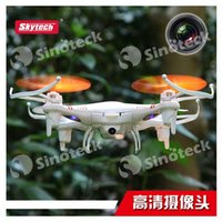 Wholesale RC Helicopter Skytech M62 G CH Remote Control M62R with HD Camera Axis Quadcopter Drone Aircraft Toy Night Vision Free DHL Factory