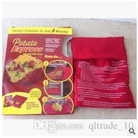potato express - Microwave Potato Cooker Just Minutes Popato Cooking Bag Steam Pocket Kitchen Gadget Tool Potato Express with package box LJJC1341