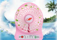 Wholesale DHL Free F95B Portable Mini USB Fan Rechargeable Battery Operated LED Lamp for Indoor Outdoor Kids Table Battery