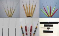 Wholesale Retails Kinds Of Plastic Wooden Metal Handle Pulling Needles Micro Rings Loop Hook Needle For Hair Extensions Tools