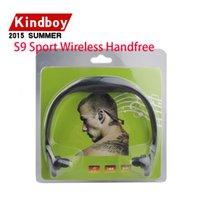 Neckbands bluetooth Prix-Casque stéréo sans fil S9 Sports Headset Bluetooth Speaker Neckband écouteurs Bluetooth 4.0 Avec Retail Package 20 pièces jusqu'à DHL