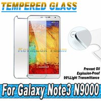 Cheap 0.26MM 2.5D Tempered Glass Screen Protector For Samsung Galaxy Note 3 III Note 3 N9000 N900 N9005 N9006 Toughened Glass Film