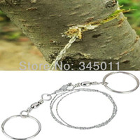 Wholesale Fretfulness steel wire bamboo wire saw chain saw bamboo outdoor camping self defense products lifebelts steel wire saw blade