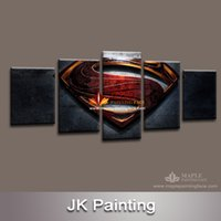 art paintings images - Free ship pieces Superman Wall art Paintings movie HD images print on canvas for kid s living room Decoration large canvas art cheap