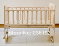 Wholesale Environmental protection Log wood paint desk baby bed Solid wood crib cradle bed GOODBABY baby