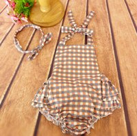 baby boy romper vintage - Vintage Plaid Baby Romper Rustic Baby bubble Romper Matching Top Knot headband birthday outfit