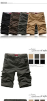 cargo shorts - 2015 brand men s casual camouflage loose cargo shorts men large size multi pocket military short pants