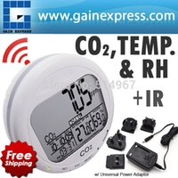 Wholesale Digital in1 Round Carbon Dioxide ppm Desktop Indoor Air Quality Temperature Humidity RH CO2 Monitor Meter Clock