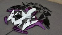 2015 Set de carenados para 2008 2009 SUZUKI GSXR600 750 GSXR600 GSXR750 K8 08 09 GSXR 600 kit de carenado de la motocicleta blanca púrpura Famoso + 7Gifts SE40