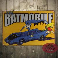 batman poster - The BatMan Batmobile Retro metal poster TIN SIGN DC comics superhero wall decor