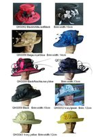 sinamay hat - Large Brim Sinamay Hat for Kentucky Derby wedding races church formal hat BY EMS