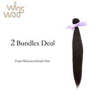 Wholesale Unprocessed A Grade WoWigs Malaysian Virgin Hair Straight Bundles Human Malaysian Hair Weave Natural Color b