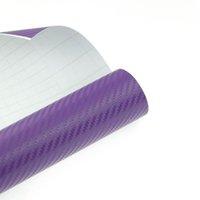 Wholesale texture D quot x50 quot Carbon fiber VINYL Wrap Sheet Decal Sticker paper Roll