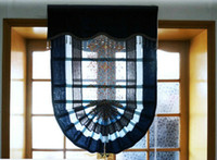 arrival window shades - New Arrival Eco friendly Elegant Roman Blinds Tulle Sheer Luxury Blue Curtains For