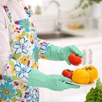 Wholesale Thick Long Wamr Rubber Household Latex Gloves Clean Dish Lengthen for Laundry and Kitchen Cleaning Dishwashing H162