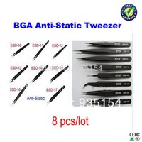 bga rework tools - bga tool anti static tweezers for bga rework station bga reballing kits tweezers