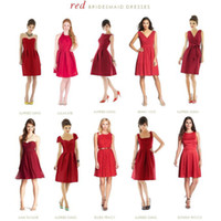 best groups - Elegant Short Red Bridesmaid Dresses Vintage Lace Jewel A Line Plus Size Groups The Best Selling Simple Wedding Party Gowns Custom Made
