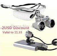 Cheap 3.5x Dental Surgical Binocular Loupes + LED Dental Head Light lamp